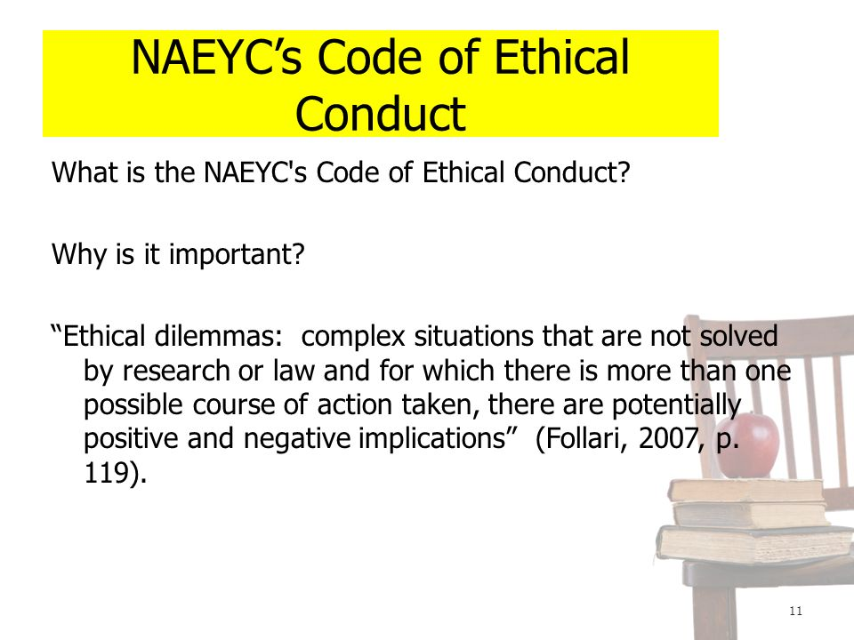 naeyc code of ethical conduct summary