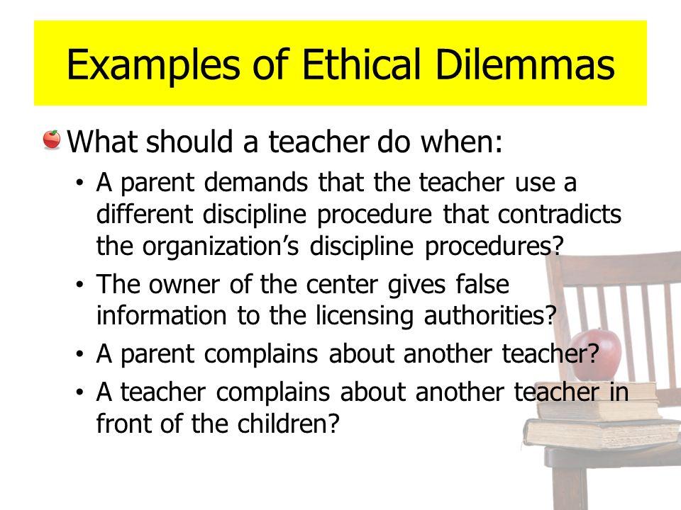 Ethical dilemma case study.