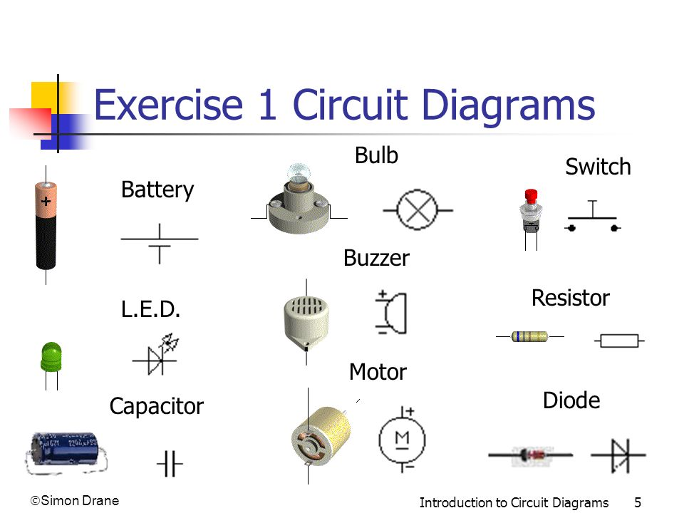 Exercise 1 Circuit Diagrams