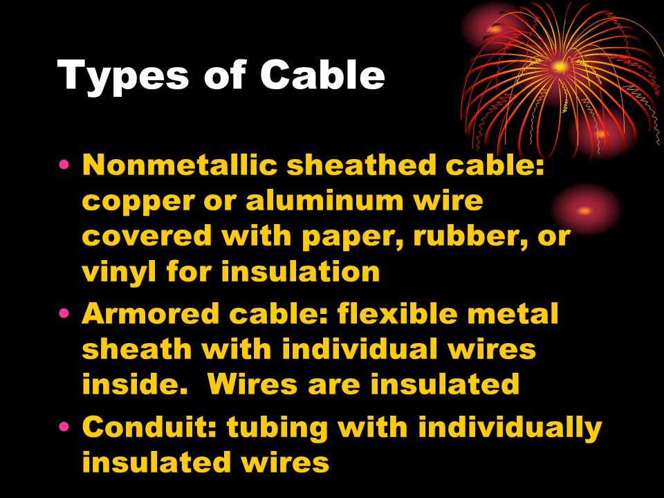 electrical wire identification ppt video online download rh slideplayer com Electrical Conduit Types Types of Electrical Wires and Their Uses