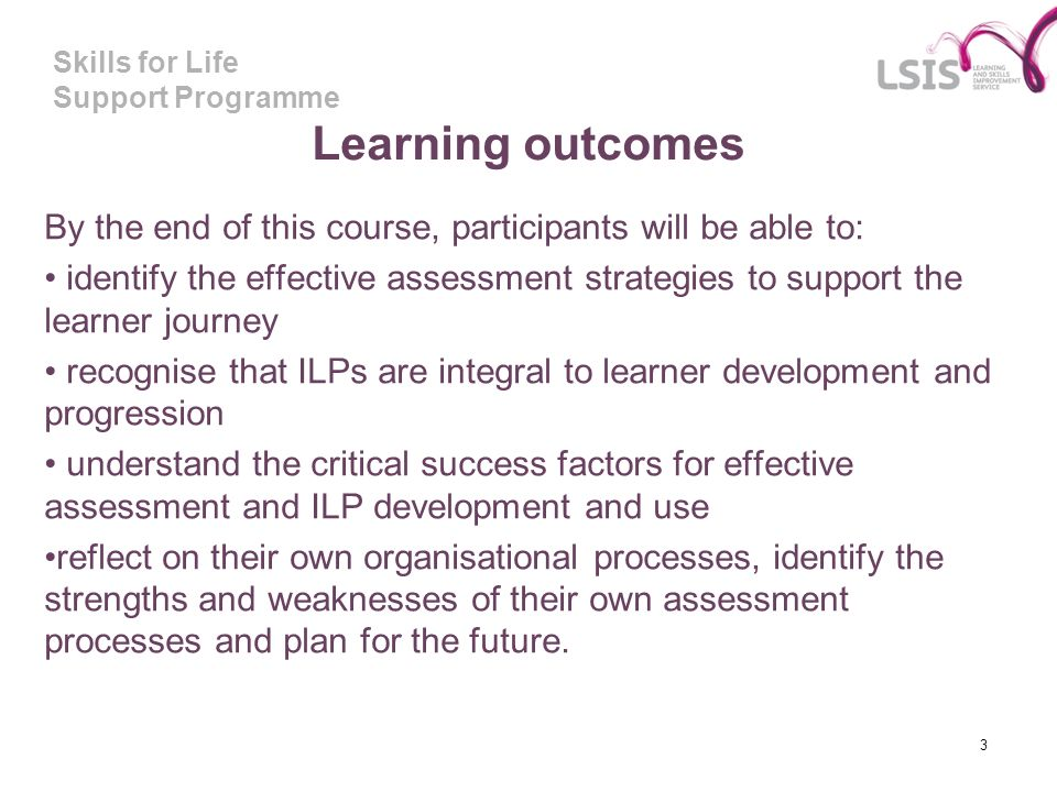 Learning outcomes By the end of this course, participants will be able to:
