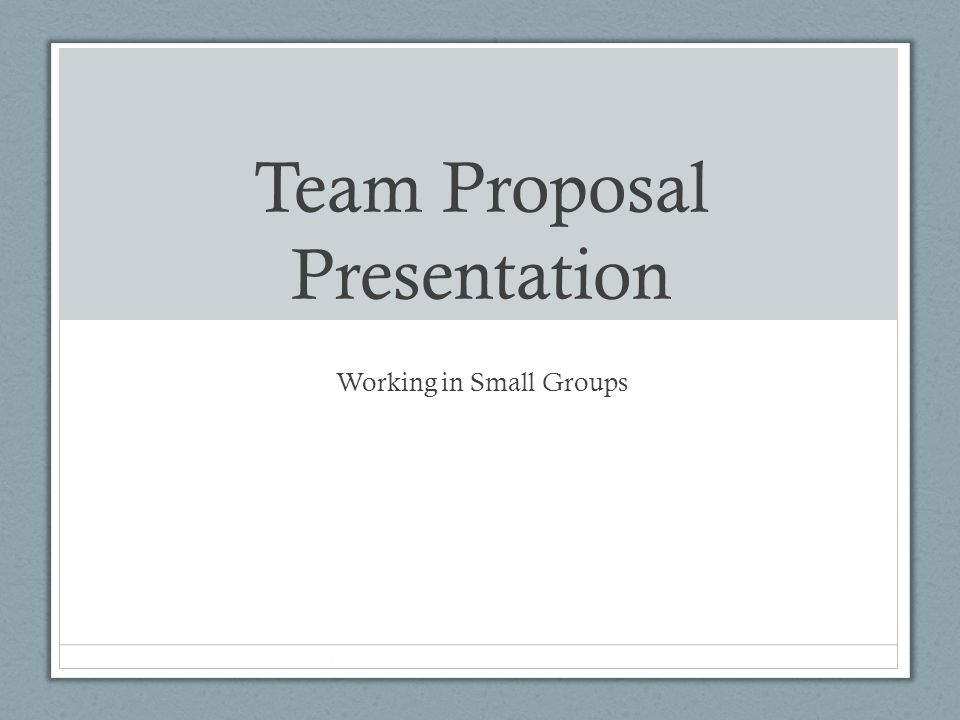 team proposal presentation ppt download
