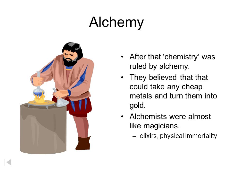 Alchemy After That Chemistry Was Ruled By Alchemy