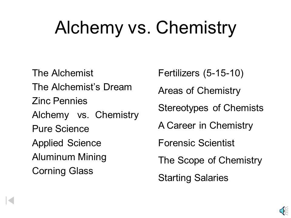 Chemistry The Alchemist The Alchemists Dream Zinc Pennies