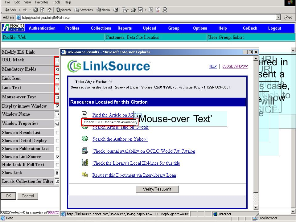 LinkSource – the sophisticated, powerful link resolver - ppt