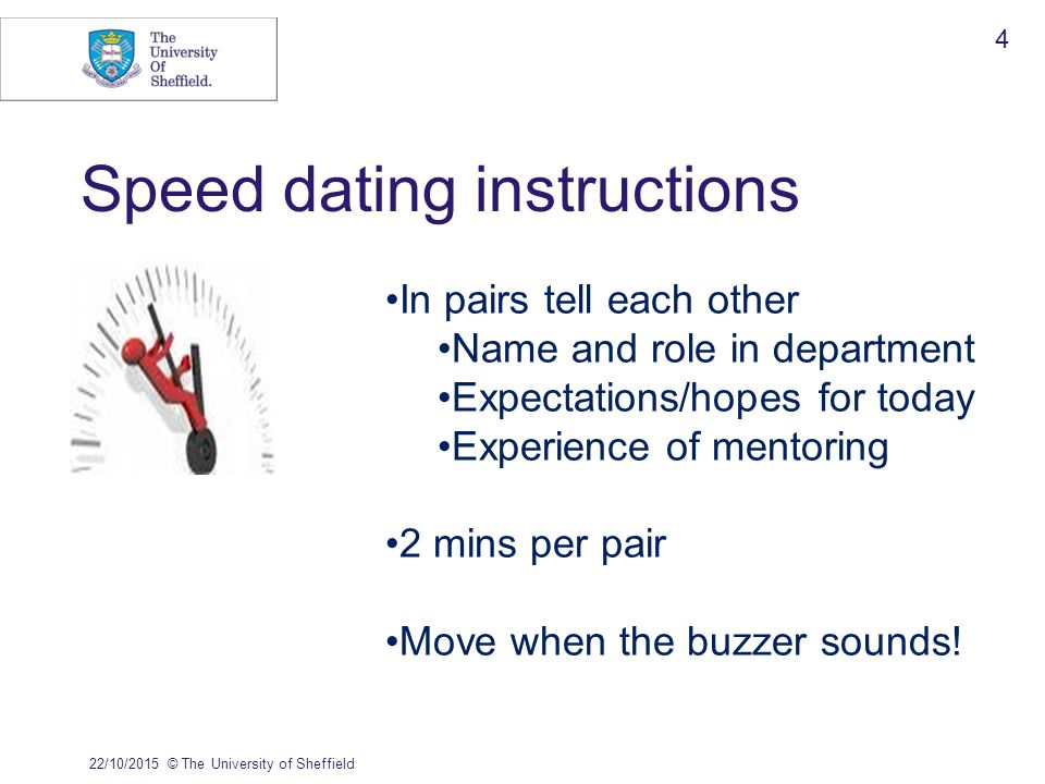 Sheffield University speed dating Waarom is Carbon dating niet nuttig voor artefacten die volledig van metaal