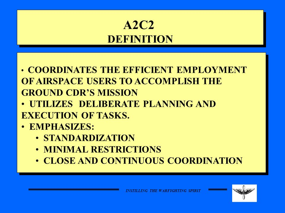 A2C2 DEFINITION UTILIZES DELIBERATE PLANNING AND EXECUTION OF TASKS.