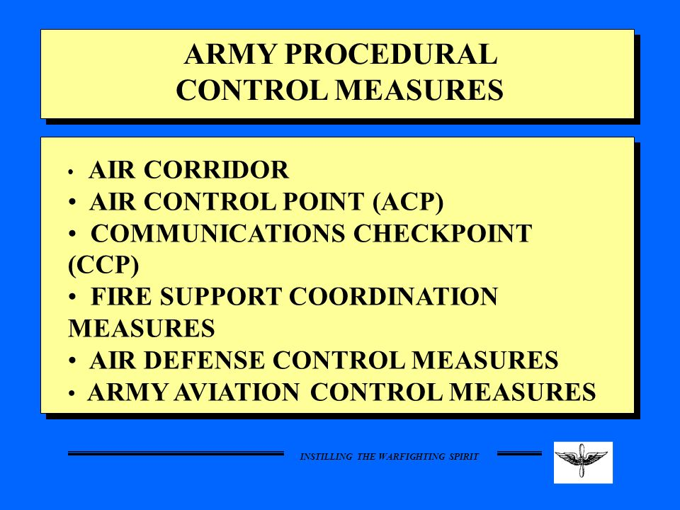 ARMY PROCEDURAL CONTROL MEASURES