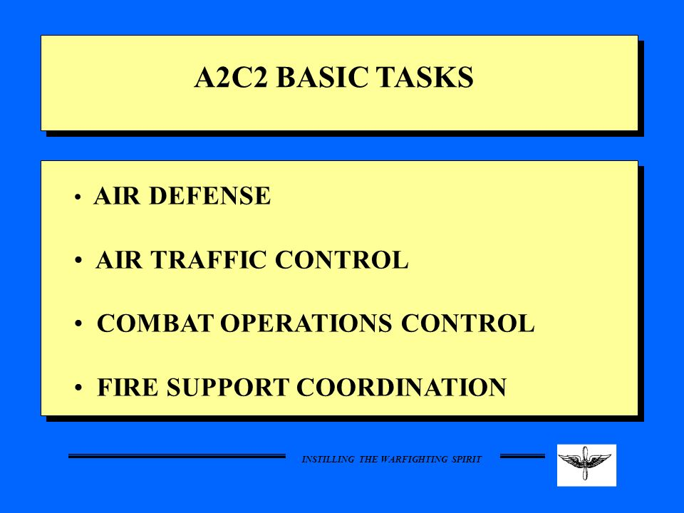 A2C2 BASIC TASKS AIR TRAFFIC CONTROL COMBAT OPERATIONS CONTROL