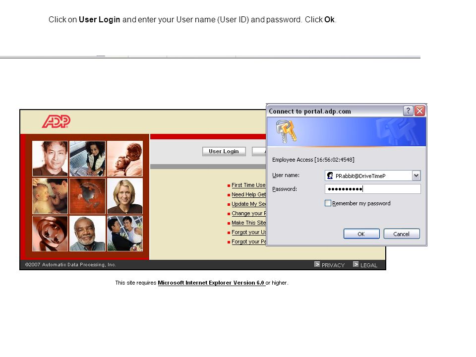 Adp Ez Login >> Adp Employee Access Help