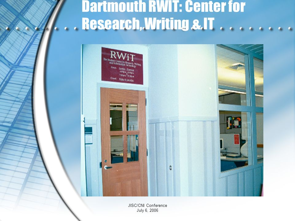 Dartmouth RWIT: Center for Research, Writing & IT