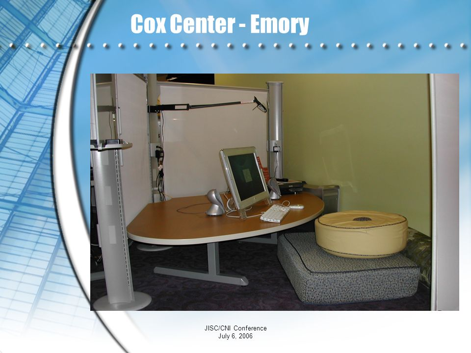 Cox Center - Emory JISC/CNI Conference July 6, 2006