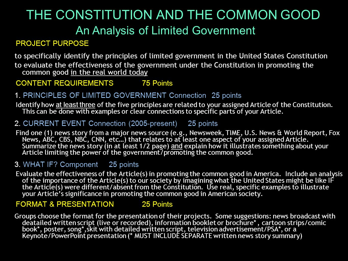 The Principles Of Limited Government Ppt Download