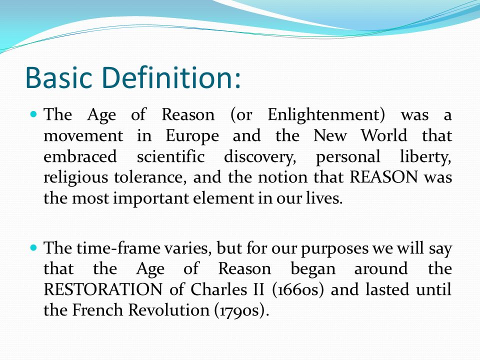 what is the age of enlightenment definition
