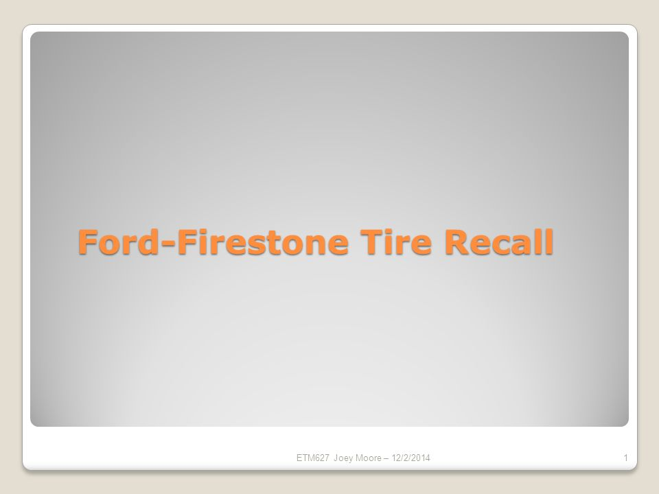 what firestone tires have been recalled