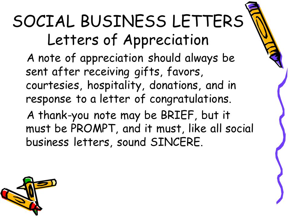 Social business letters ppt video online download social business letters letters of appreciation expocarfo Choice Image