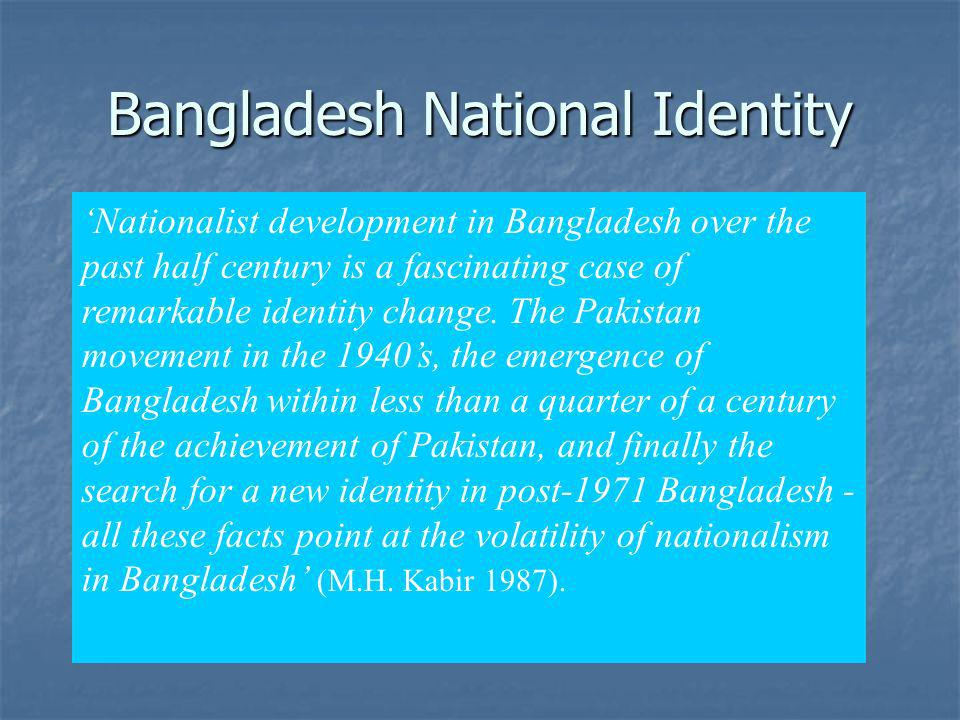 Bangladesh National Identity
