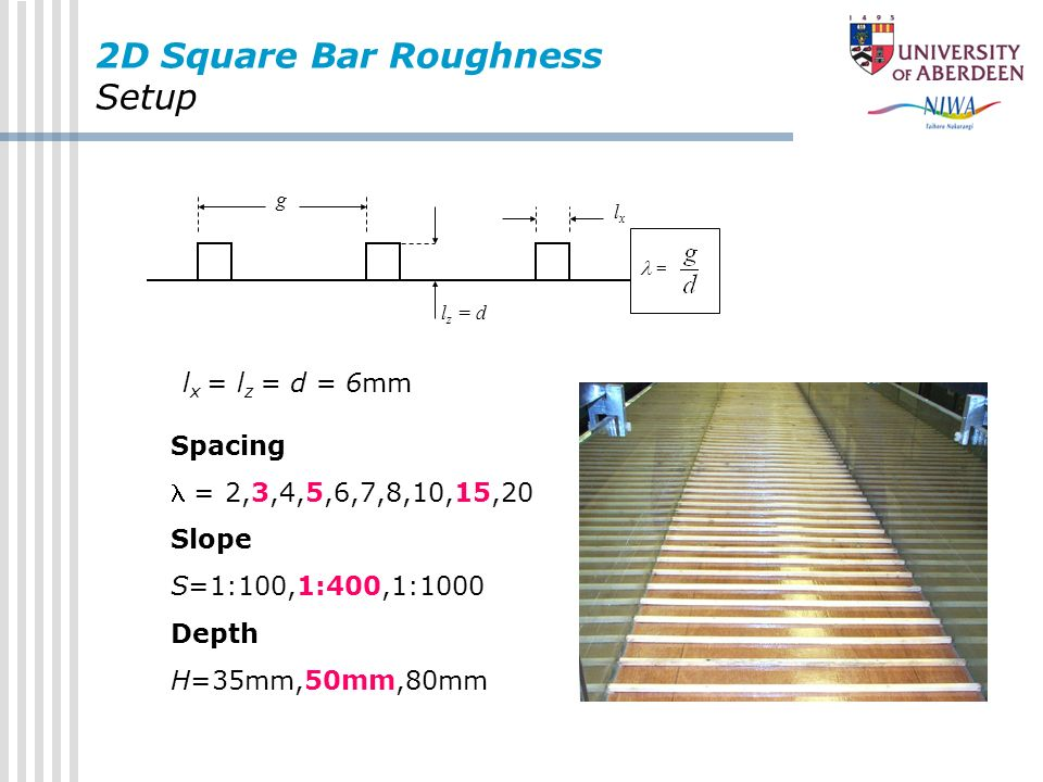 2D Square Bar Roughness Setup