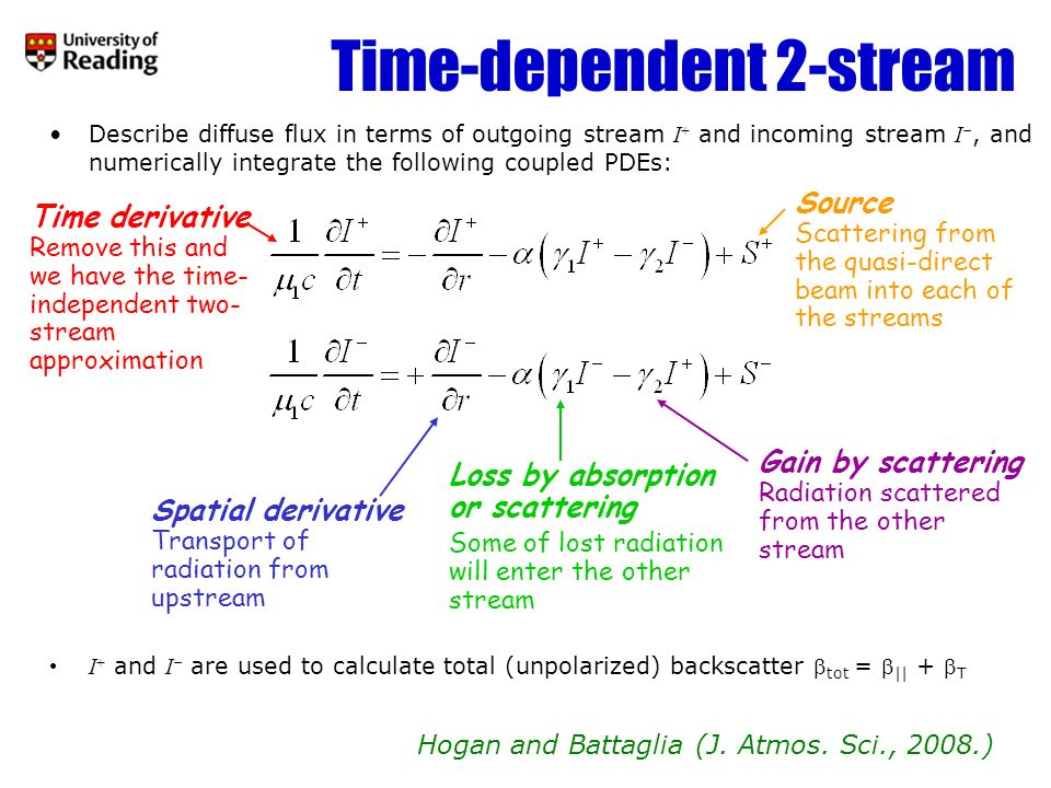 Time-dependent 2-stream