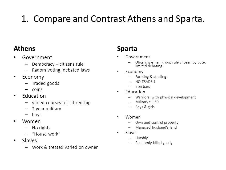 athens vs sparta government