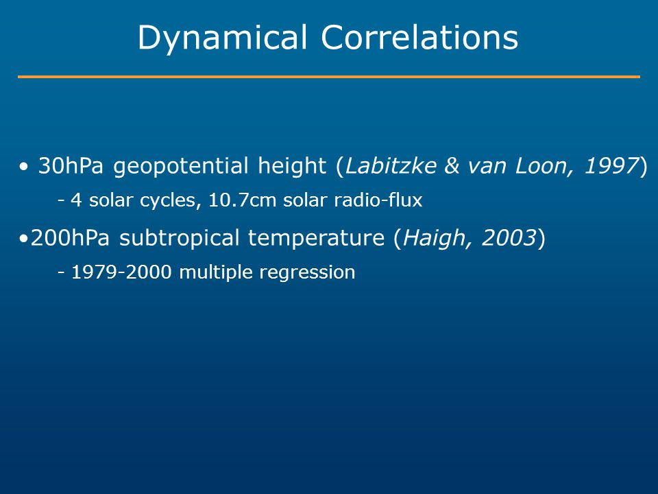 Dynamical Correlations