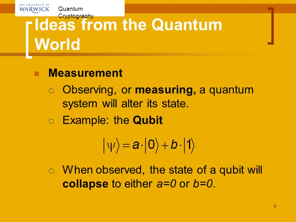 Ideas from the Quantum World