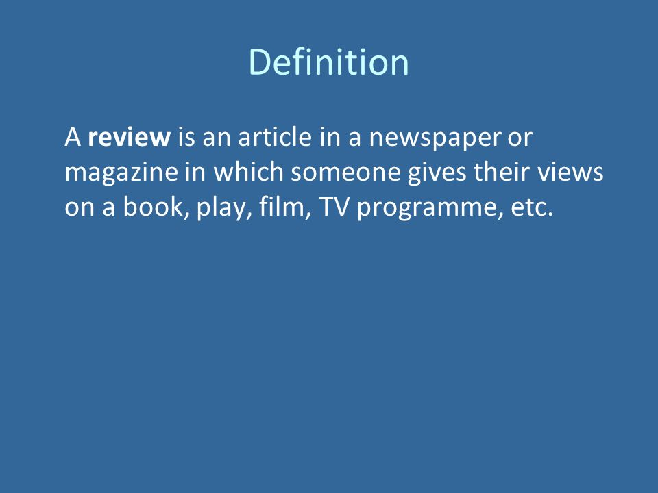what is a film review definition