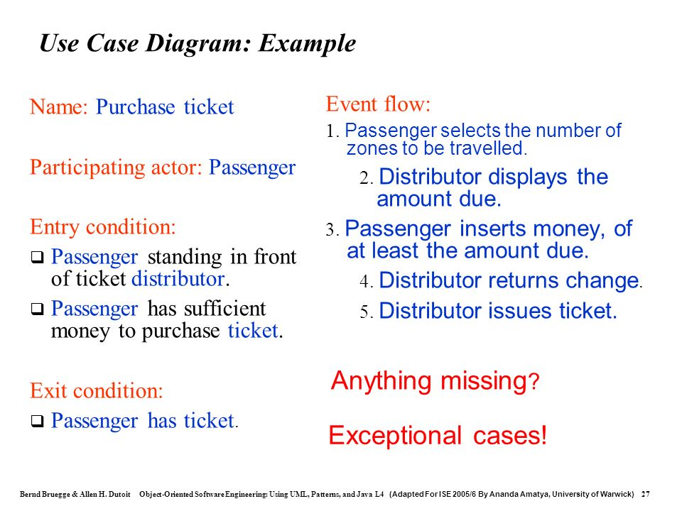 Use Case Diagram: Example