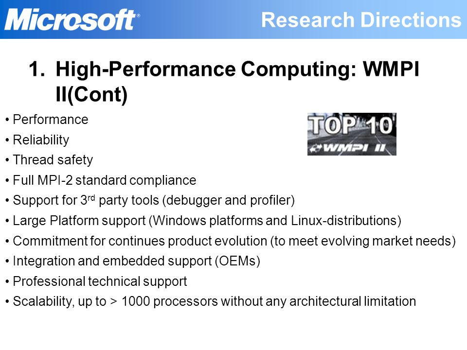 High-Performance Computing: WMPI II(Cont)