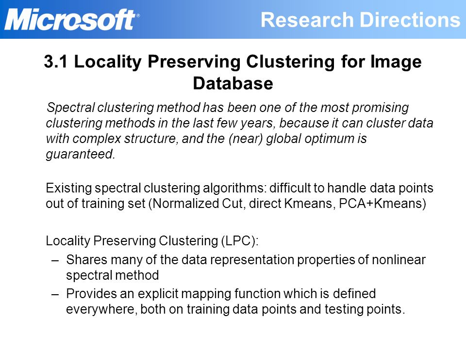 3.1 Locality Preserving Clustering for Image Database