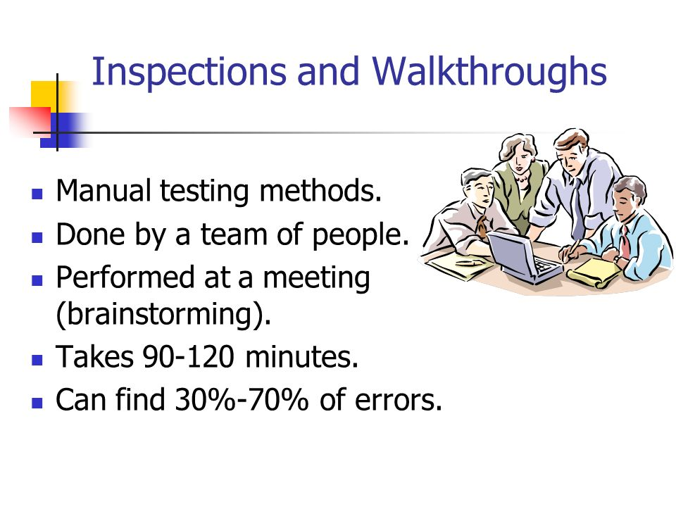 Inspections and Walkthroughs