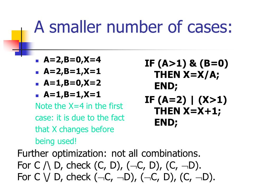 A smaller number of cases: