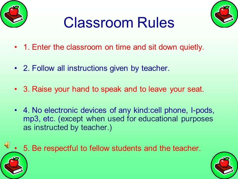 classroom rules and procedures language arts through esol ppt