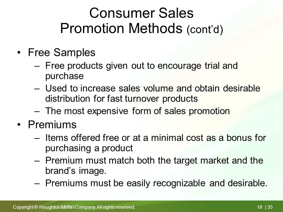 sales promotion methods