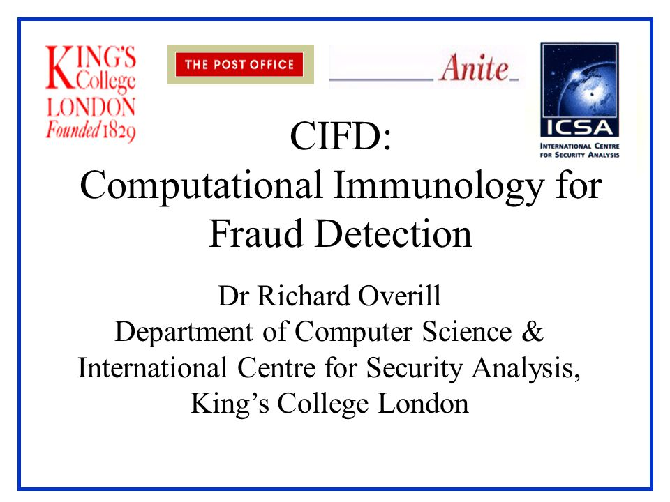 CIFD: Computational Immunology for Fraud Detection