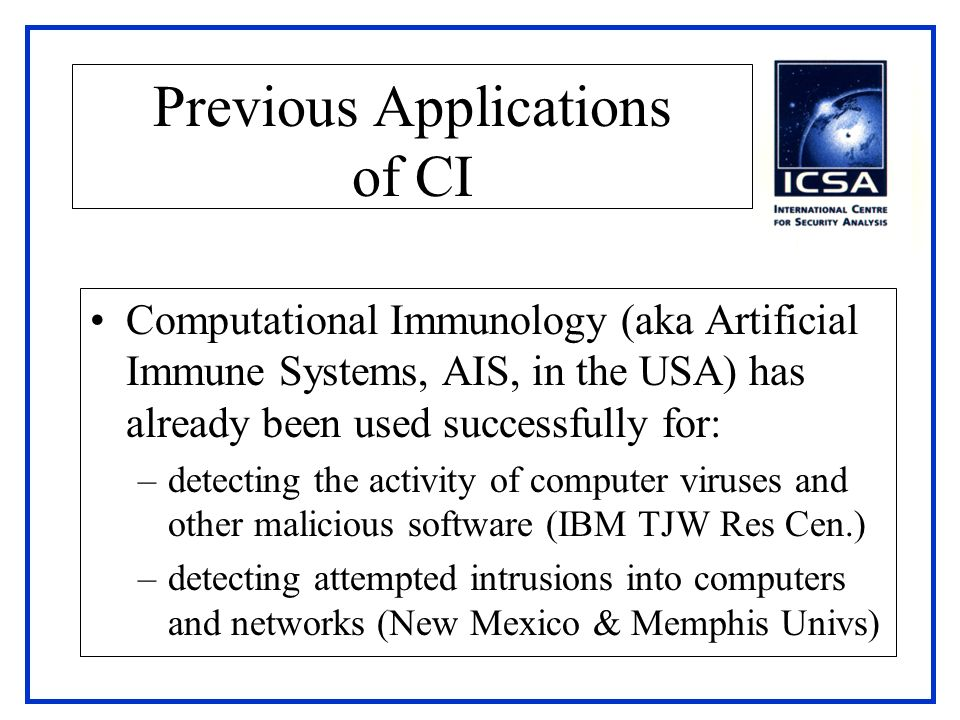 Previous Applications of CI