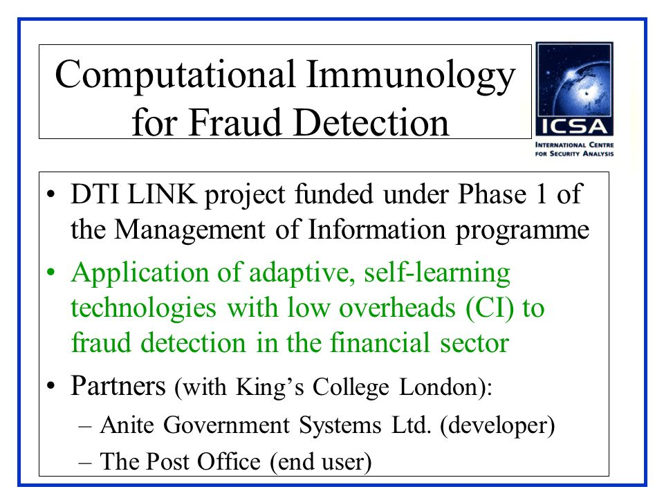 Computational Immunology for Fraud Detection