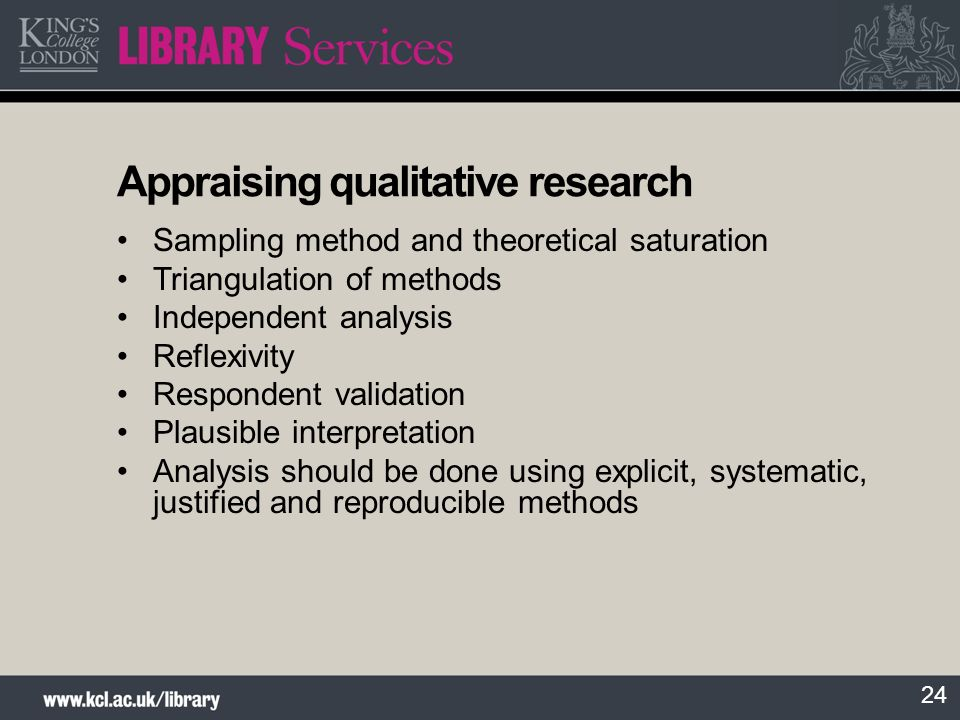 Appraising qualitative research
