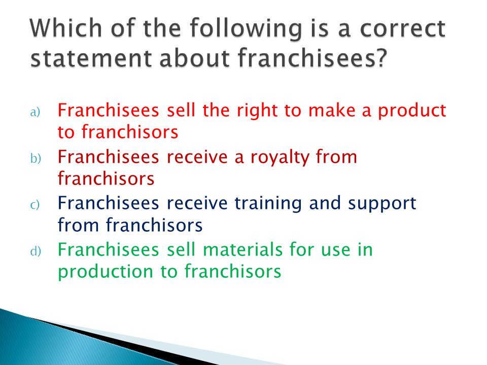 which of the following statements about online surveys is true franchising unit 1 topic ppt video online download 1216