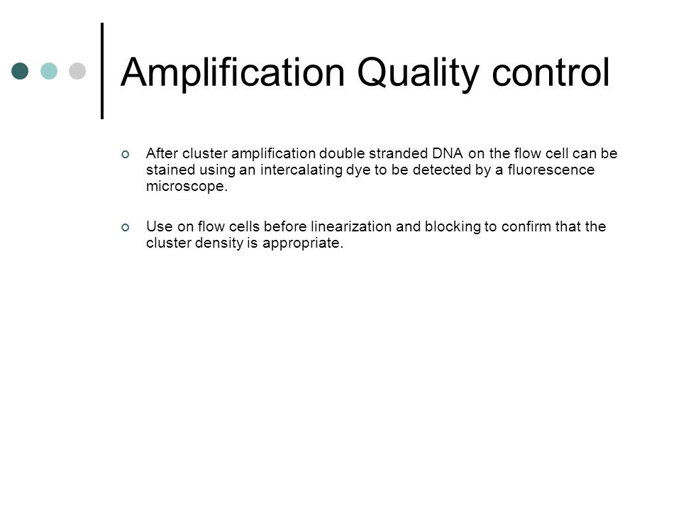 Amplification Quality control