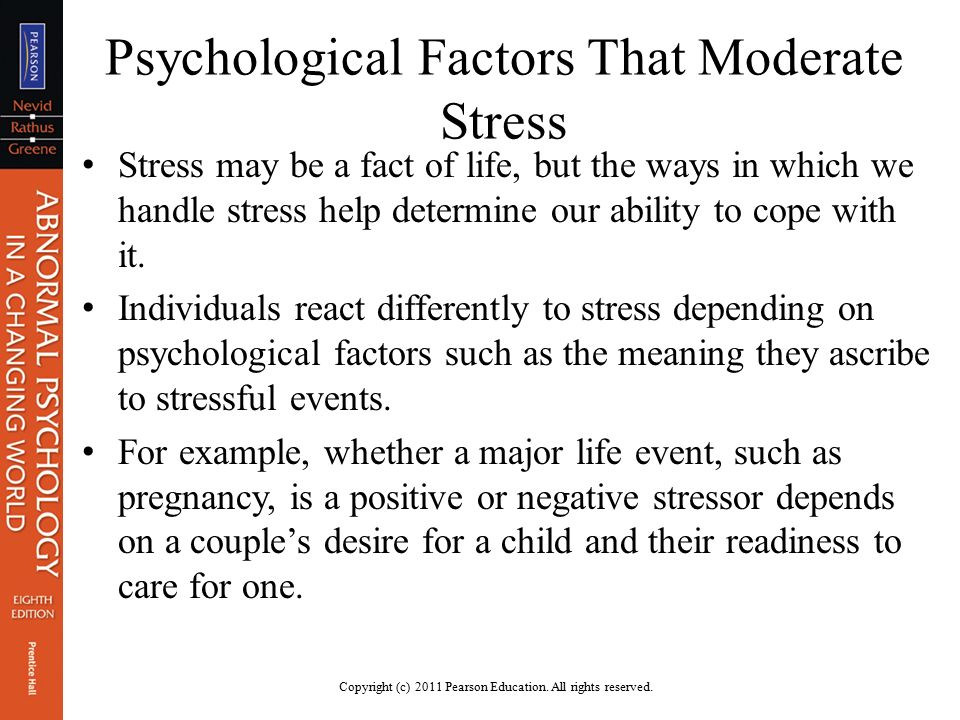 Stress Psychological Factors And Health Ppt Download