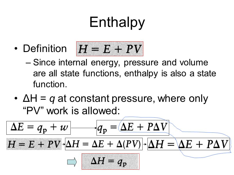 how to calculate change in specific enthalpy