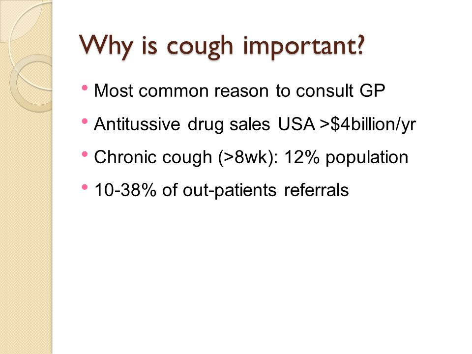 Why is cough important Most common reason to consult GP