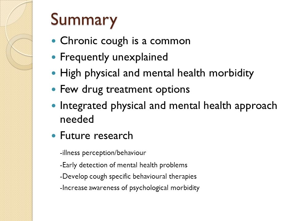 Summary Chronic cough is a common Frequently unexplained
