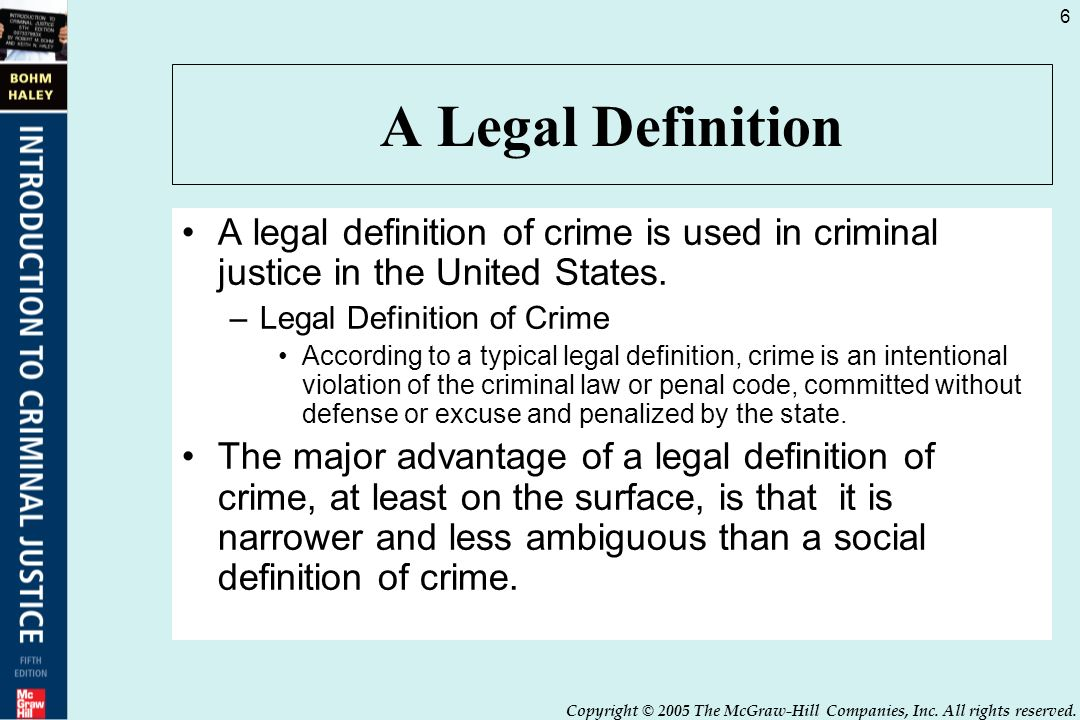 a legal definition a legal definition of crime is used in criminal justice in the united
