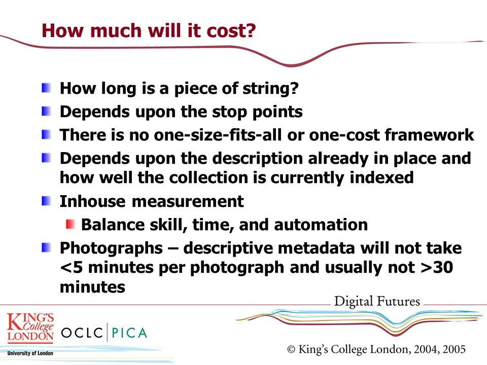 How much will it cost How long is a piece of string