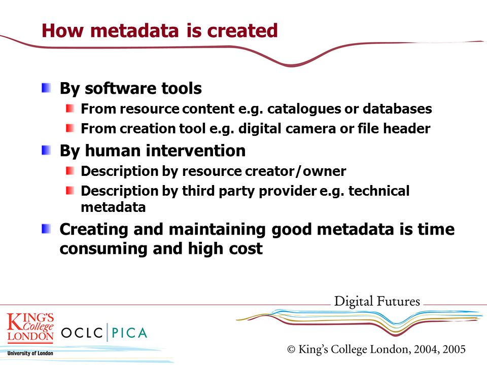 How metadata is created