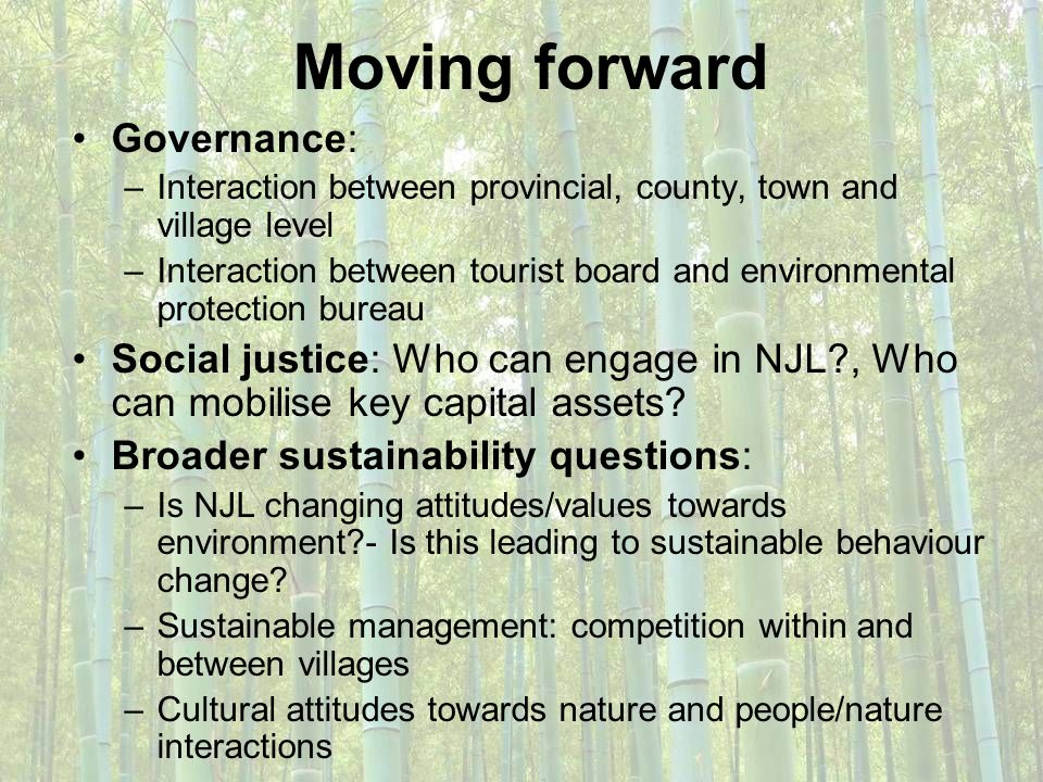 Moving forward Governance: