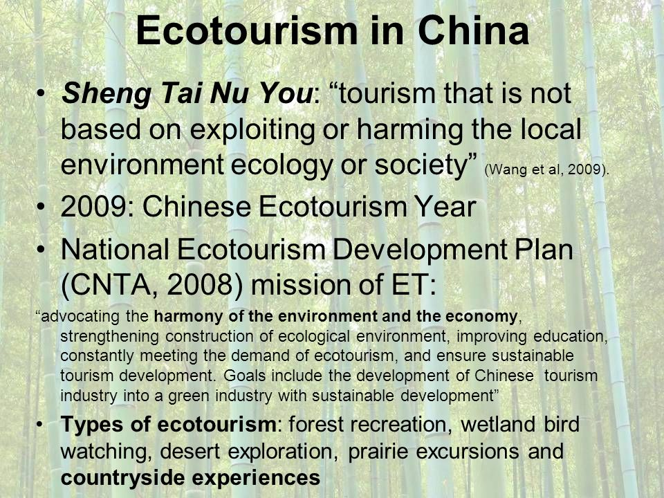 Ecotourism in China