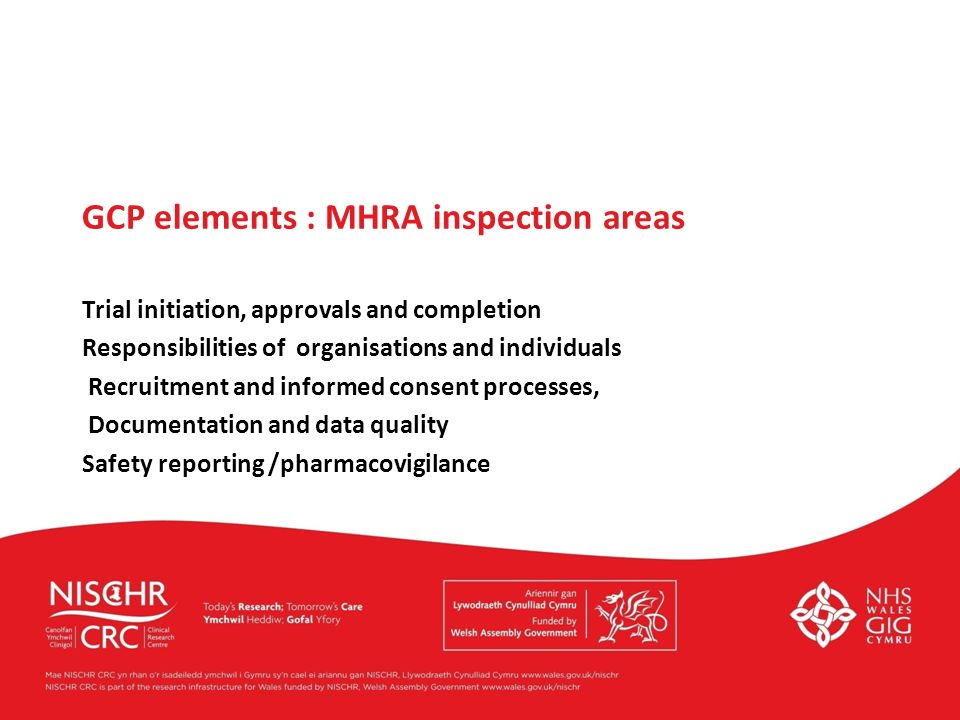 GCP elements : MHRA inspection areas